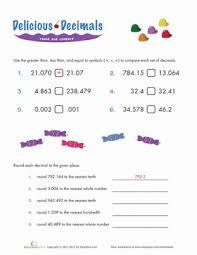 comparing decimals worksheet education com