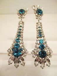 1960 s earrings 1960 s sea green drop shoulder duster earrings