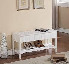 white finish solid wood storage shoe bench rack shelf 2day ship ebay