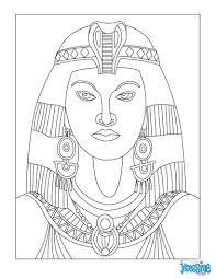 Coloriage  Cléopâtre  Egyptin historia  Pinterest  Egypt