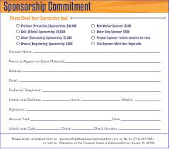 sponsorship sheet template free food menu template received