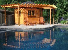 Cabana Pool House Corner Shed Corner Cabana Toronto Backyard Corner Building