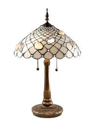 dale tiffany tt60055 tiffany shells table lamp antique brass and