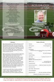 memorial service programs a4 paper service sheets a4 football funeral service program template