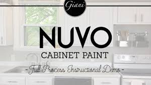 nuvo cabinet paint instructional how to video youtube