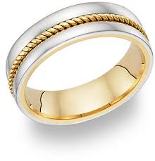 wedding ring designs 14k two tone gold rope design wedding band ring