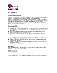Sle Cover Letter For Human Resource Generalist Position human resources cover letters for resumes resume for study