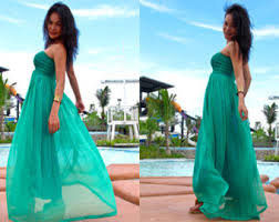 white wedding beach dress chiffon strapless long maxi dress