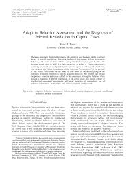 adaptive behavior assessment and the diagnosis of mental