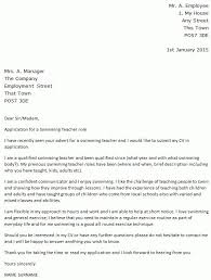 writing a cover letter for teaching teacher cover letter example