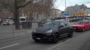 Porsche Macan Matte Black - matte black techart porsche cayenne in zurich switzerland youtube