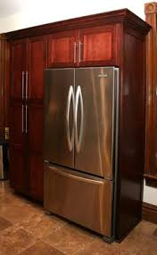 KITCHEN CABINETS Around REFRIGERATOR Could Do This But Just Put A - Pantry kitchen cabinets