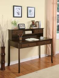 Small Walnut Desk Coaster Furniture 800769 Writing Desk With Small Storage Hutch