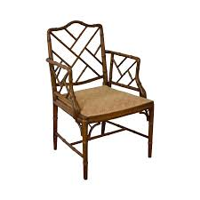 Chinese Chippendale Chair by Chinese Chippendale Style Faux Bamboo Arm Chair Chairish