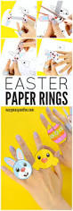 printable easter paper rings for kids easter craft template