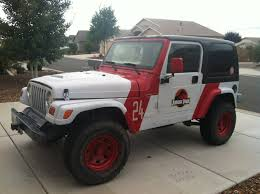 jurassic park car plastidip and a couple decals to to make a jurassic park jeep