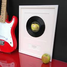 personalized record album personalised framed vinyl record by vinyl