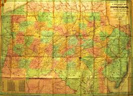 County Map Of Pa Pennsylvania In Early Pocket Maps