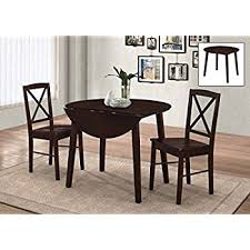 Dining Set 2 Chairs Winsome Lynden 3 Dining Table With 2 Ladder