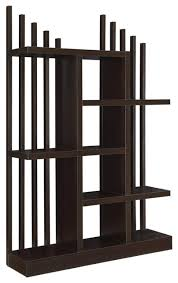 Staggered Bookshelves by Coaster Staggered Shelf Bookcase Cappuccino Contemporary