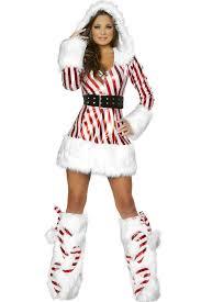 christmas costumes white candy hooded christmas costume 023524 christmas