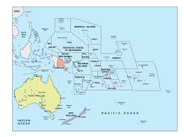 Map Of South Pacific The Accidental Expat