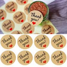 thank you favors 60pcs kraft paper label sticker thank you gift tags wedding favors