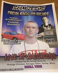 twitter youtube slimjesus feat his 1994 red pontiac featuring hit
