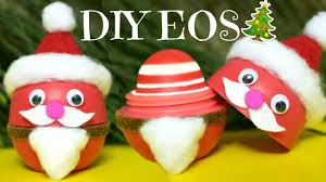 diy eos santa claus how to make eos lip balm diy