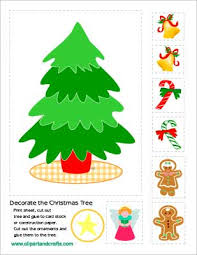 Decorate Christmas Tree Printable by Printable Christmas Tree And Ornaments Activity Sheet