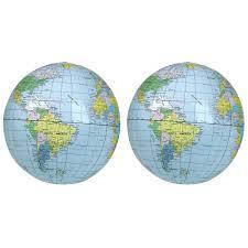 World Globe Map Educational Inflatable World Globe Map Ball 2pcs Lazada Malaysia