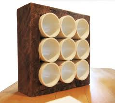 custommade curator recycled pvc and wood wine rack huffpost