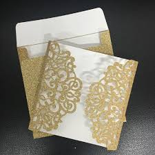 wedding invitations glitter handmade arabic wedding invitation cards glitter paper gold sliver