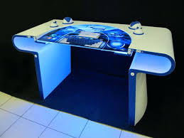 Small Glass Top Computer Desk Small Blue Computer Desk Navy Blue Computer Desk Blue Glass Top