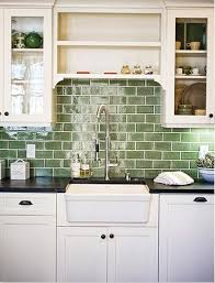 green and kitchen ideas green subway tile backsplash in white kitchen eco 62