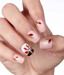 and broadway nails thanksgiving inspired nail