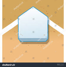 overhead view home plate on baseball stock vector 144519929