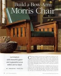 Bow Arm Morris Chair Plans Mission Living Room Furniture Foter