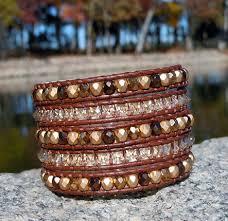 leather bracelet with swarovski crystal images Swarovski crystal wrap bracelet onsra designer bracelets jpg