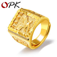 men s ring opk rock eagle men s ring luxury gold color resizeable to 7