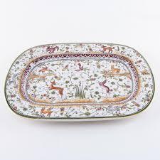 painted serving platters portuguese ceramica conimbriga painted serving platter ebth
