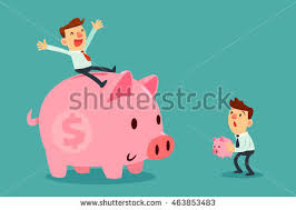 his and piggy bank disadvantage stock images royalty free images vectors