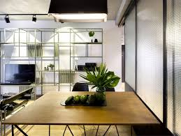 Ica Home Decor Bachelor S Apartment Features Glass And Steel Structures That Give