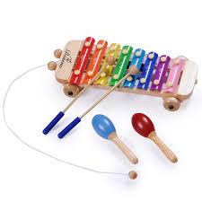amazon com boseno xylophone toy for kids with maracas mallets