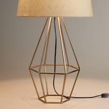 brass diamond table lamp base shape design mid century style