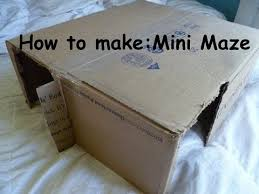 How To Make A Small Toy Box by How To Make Rabbit Toy Mini Maze Youtube