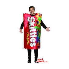 Halloween Costumes Skittles Candy Bag Size Costume Mascot