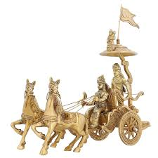indian cart amazon com indian home décor brass statue lord krishna arjun