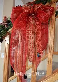 christmas mesh ribbon how to make a deco mesh bow photo tutorial time with thea
