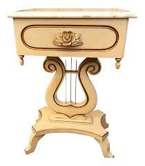 italian marble top lyre table chairish